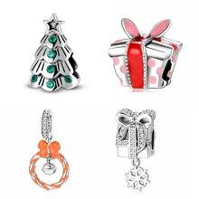 Bracelet Fine-Jewelry Christmas-Tree Beads Zircon 925-Sterling-Silver JIUHAO Original