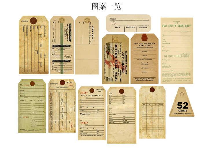 13 adet/torba Vintage eski İngilizce bilet etiket Sticker DIY zanaat Scrapbooking albümü hurda dergi planlayıcısı dekoratif çıkartmalar