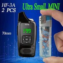2PCS HF MINI Walkie talkie  PMR446 cb radio station Ultra small  ham radio comunicador Transceiver Free headset walkie talkies