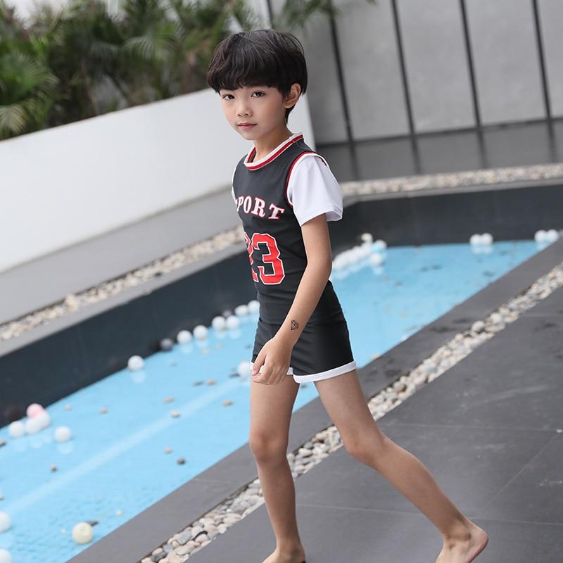 19 New Style KID'S Swimwear BOY'S Split Type Two-Piece Set Sports Korean-style Children