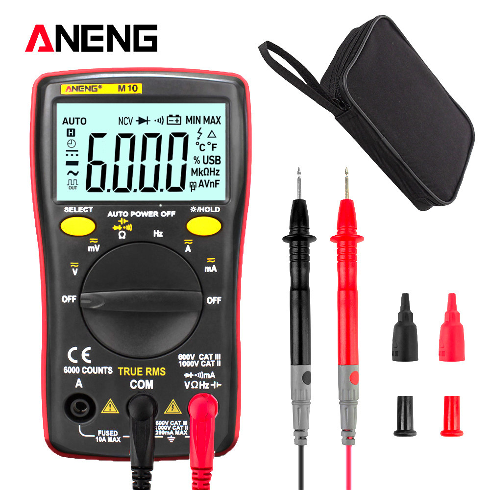ANENG M10 Digital Multimeter 6000 Counts Profissional Transistor Tester Multimetro Multitester Analogico Lcr Meter Rm101/zt102