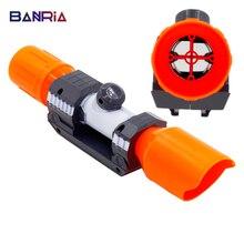 Universal para nerf acessórios compatível modificado parte dianteira do tubo avistamento dispositivo/brinquedos silenciador para nerf vista elite series