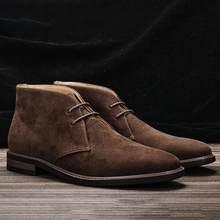 Tamaño 7-12 hombres botas de desierto Retro americano estilo de los hombres botas de tobillo # KD582