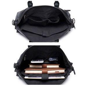 Image 5 - Scione الرجال حقيبة جلدية حقيبة جديدة المحمولة حقيبة أعمال للرجال مكتب محمول حقيبة ساعي حقيبة الجراب الجلدية حقيبة