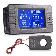 MICTUNING AC cyfrowy amperomierz multimetrowy woltomierz z wyświetlaczem LCD 80 260V 100A przekładnik prądowy uniwersalny do urządzenia domowe