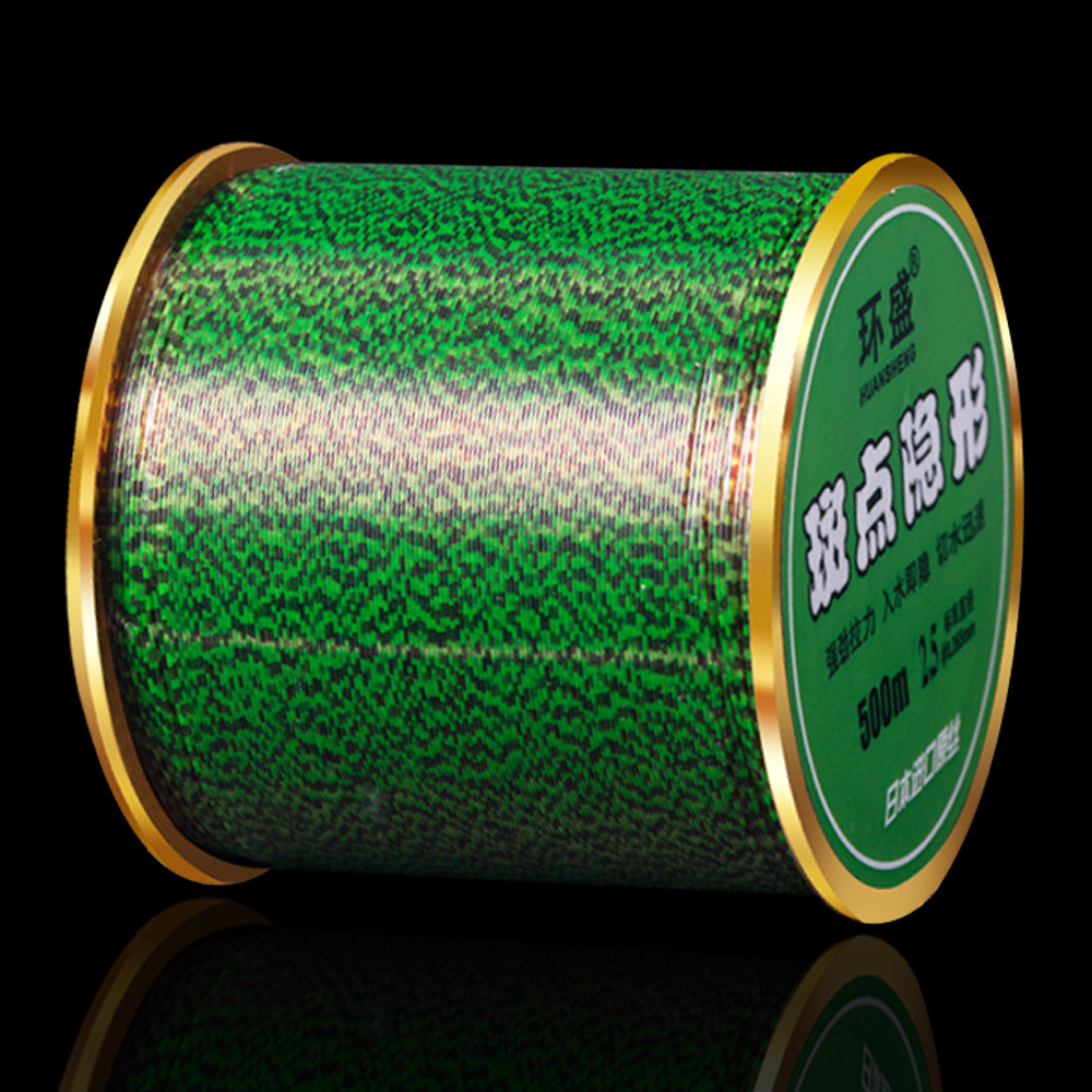 500m 3D Invisible Spoted Line Fly Fishing Line  Monofilament Fishing Line Speckle Carp Nylon Thread Fishing Line Algae Line