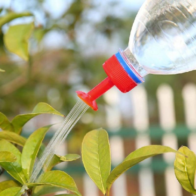 1 шт. портативная цветная банка для полива цветов, саженцев садовых растений, ирригация, распылитель, бутылка для мягкого напитка, верхние во...