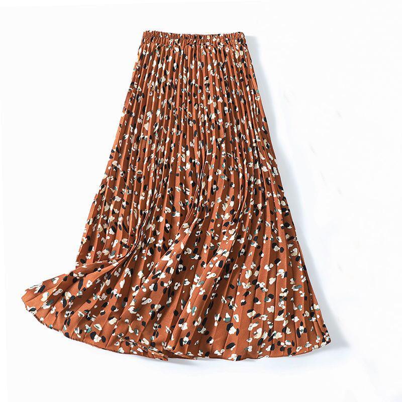 Woman Boho Flower Long Skirt Summer Beach Sunny Ladies Casual Skirts Floral Chiffon Skirt