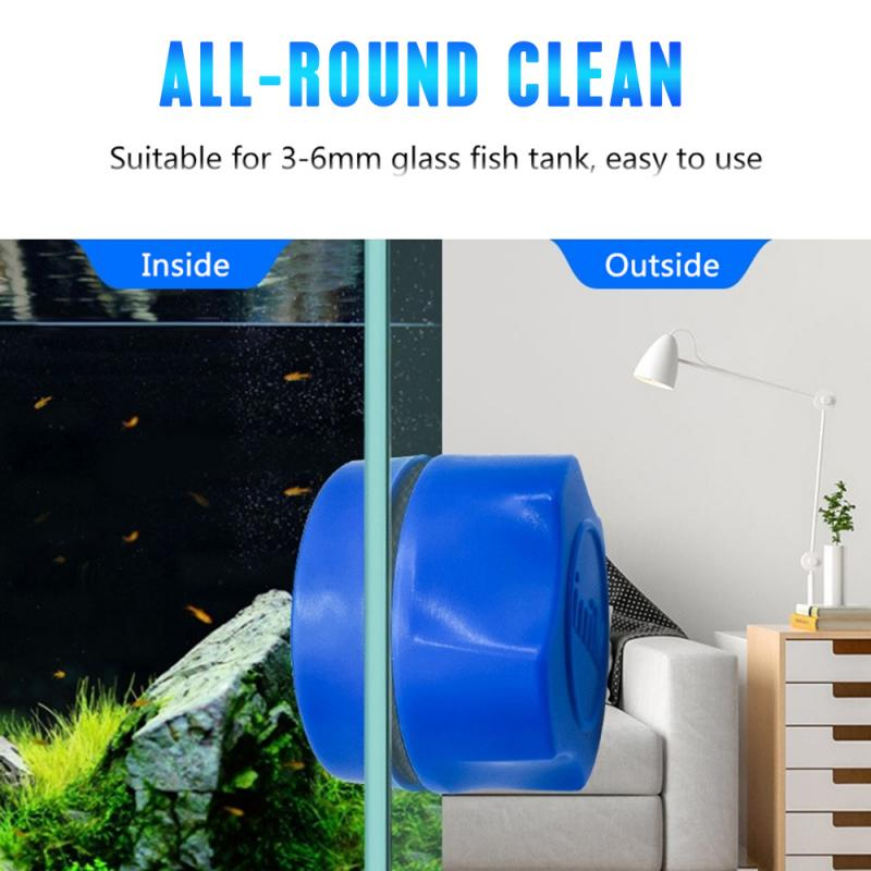 Aquarium Fish Tank Magnetic Clean Brush Glass Floating Algae Scraper Curve  Glass Cleaner Scrubber Tool Window Cleaning Magnet|Cleaning Tools| -  AliExpress