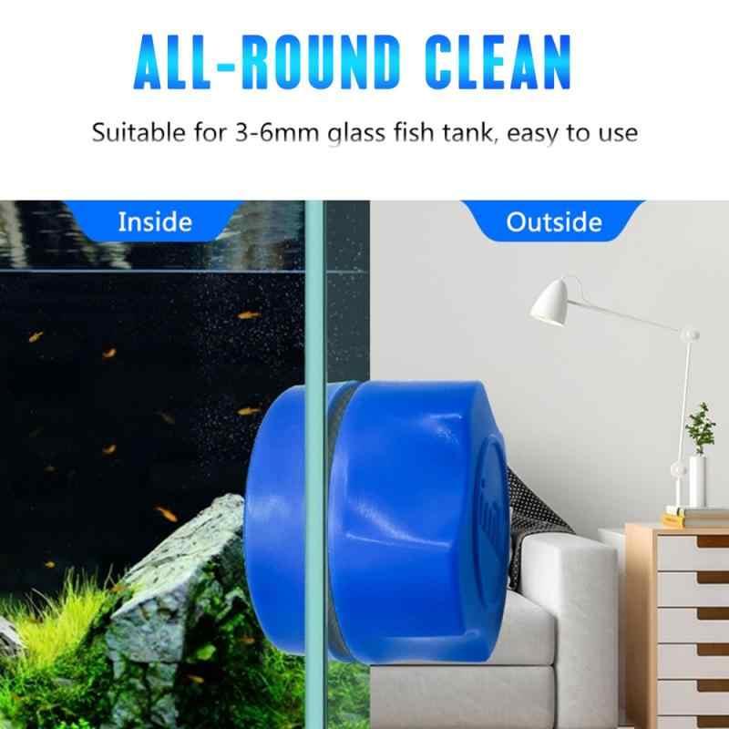 Szczotka do czyszczenia magnetycznego akwarium szklany pływający skrobak do alg Curve środek do czyszczenia szkła przyrząd do oczyszczania okien magnes do czyszczenia okien