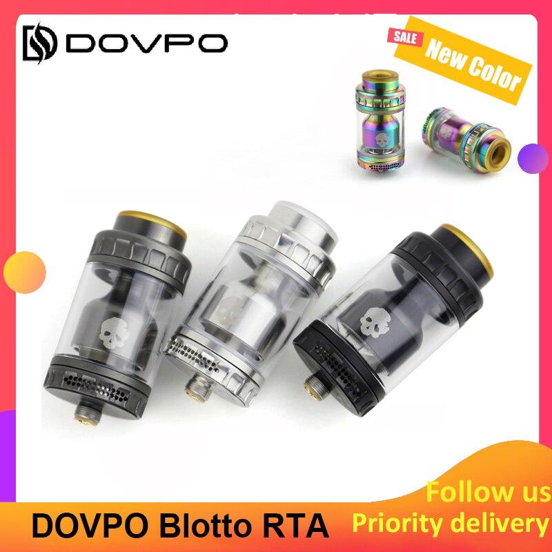 DOVPO Blotto RTA Glass Bubble/ULTEM Bubble Tube 2/6ml Tank 510 Thread Easy Filling Electronic Cigarette Atomizer Vs Zeus X