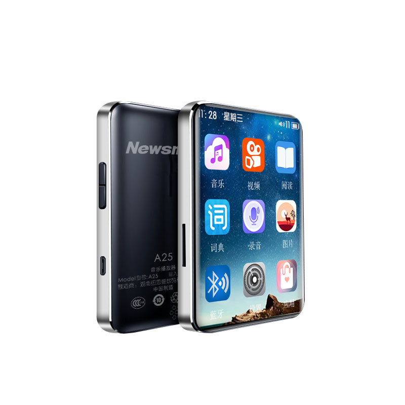 Newsmy A25 Lossless Bluetooth 5.0 MP3 4GB 8GB Walkman Music Player Sports Portable Mini MP3 Touch Screen Player Support OTG TF