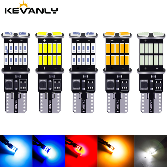 Wholesale 100PCS T10 W5W Canbus 26SMD Car LED  4014 194 168 W5W 2.5W 0.2A Non polar Auto Wedge Tail Side Bulb reading plate lamp