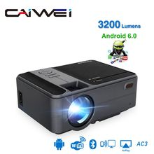 CAIWEI MINI Projector C180AB 1280x720P Android 6.0 WIFI Proyector Portable LED B
