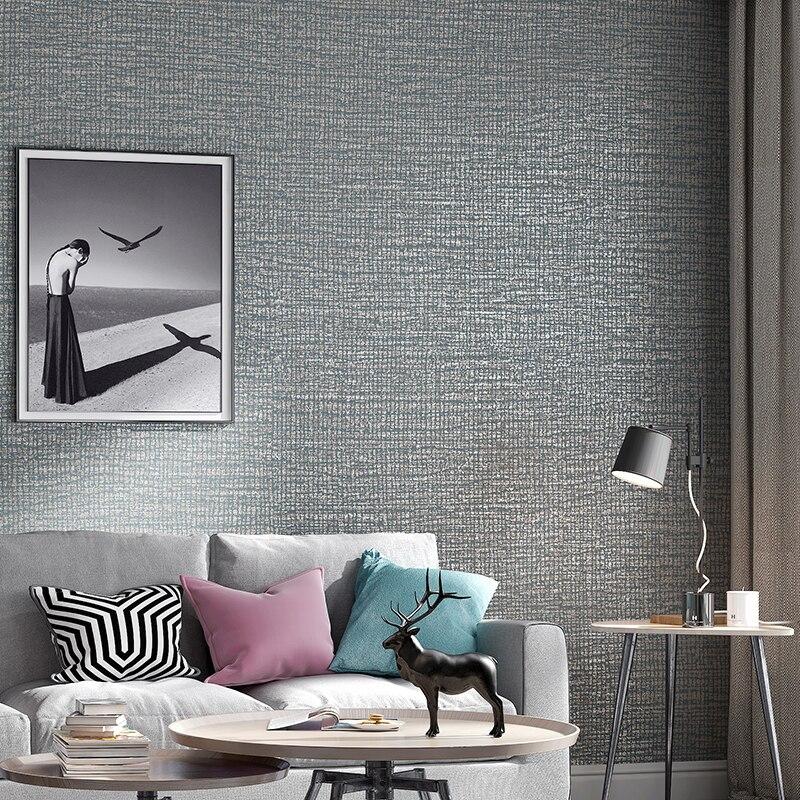 Modern Plain Metal Textured Wallpaper Beige Gray Green Solid Color Wall Paper Bedroom Living Room Home Decor