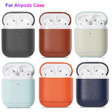 For AirPods Case Leather High Quality Wireless Headphones Protective Cover Accessories Airpod 2 1 Universal