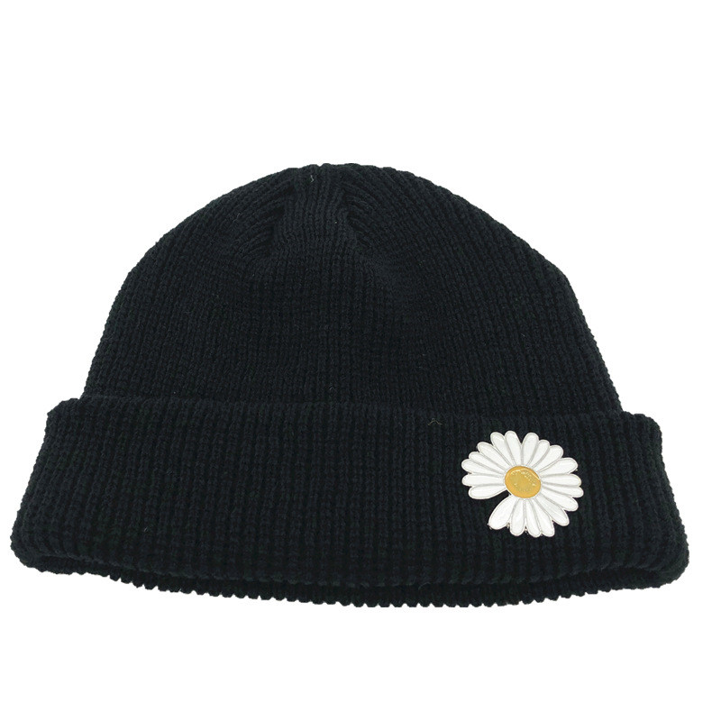 KPOP G-Dragon Beanie Daisy Printing Wool Hat Peaceminusone Melon Cap