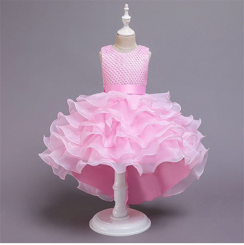 Hd3fc622e895a40fabea52380a1e257f4Y - Kids Princess Dresses For Girls Clothing Flower Party Girls Dress Elegant Wedding Dress For Girl Clothes 3 4 6 8 10 12 14 Years