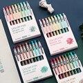 9 шт/коробка Morandi цветная гелевая ручка 0 5 мм для блокнота профессиональная ручка для сока наконечник для ежедневного письма канцелярские пр...