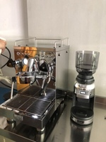 KD 310J2 Triple Thermo block Espresso Machine (auto water pumping)+ZD 17W Conical Burr Coffee Grinder with Scale
