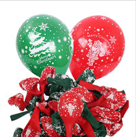 10 Uds decoración de Navidad globos rojo verde globo de látex de Santa diseño de copo de nieve decoraciones para fiestas venta al por mayor