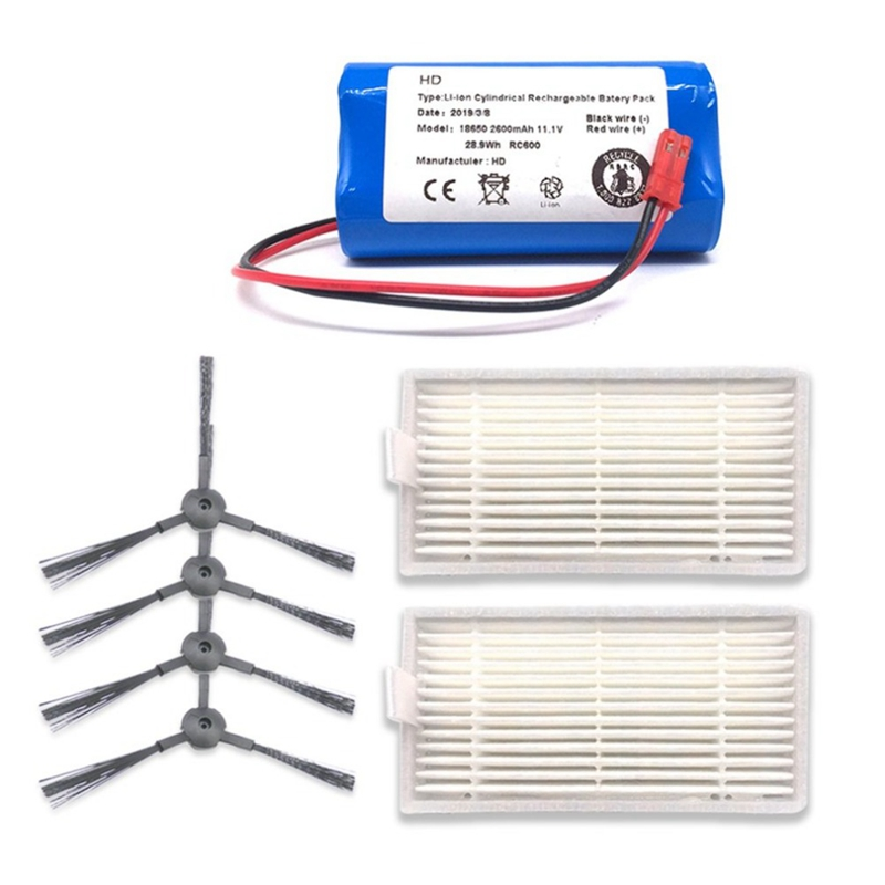 11,1 V 2600MAh recargable para batería ILIFE + filtro de cepillo aspiradora robótica accesorios para Ilife V3 V5 V5S V5S