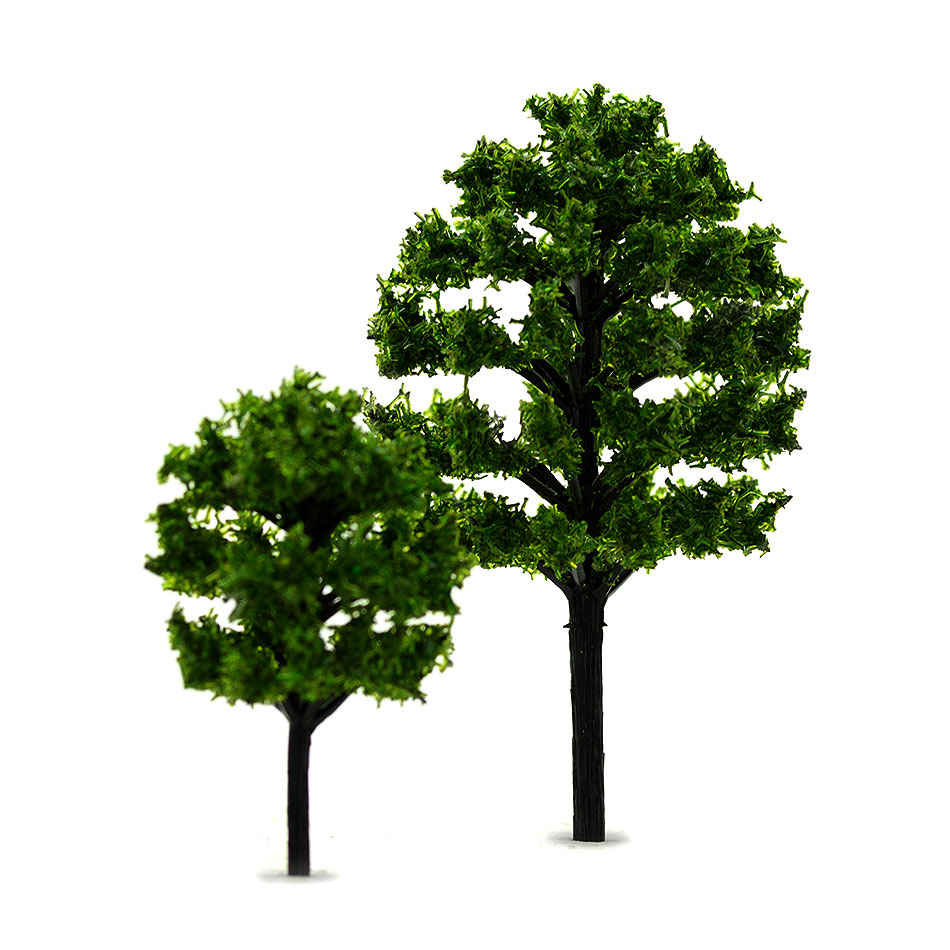 4-8CM 1:100-200 Scale Green Color Model Trees Toys ABS Plastic Model Plants For Diorama Model Architecture Scenery Making Kits
