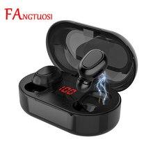 FANGTUOSI TWS Drahtlose kopfhörer bluetooth headset Mit Mikrofon Led-anzeige Wasserdichte noise reduktion sport kopfhörer