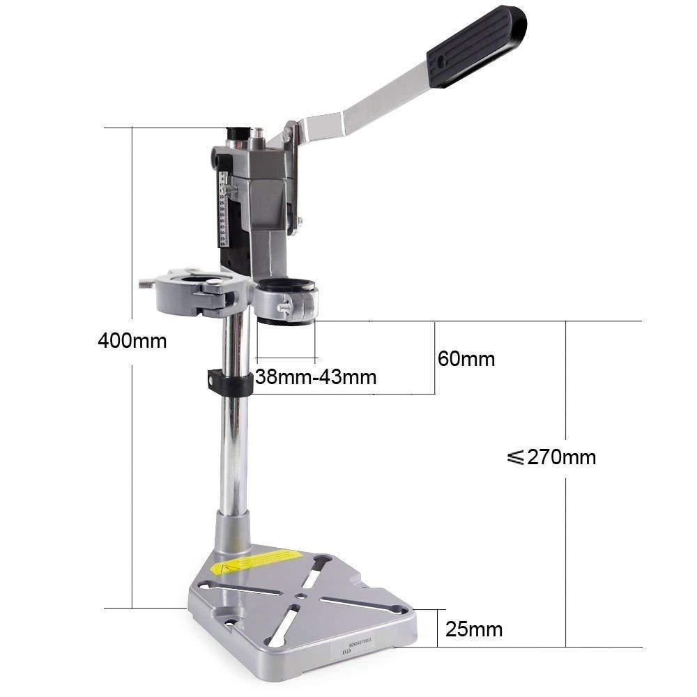 Double-head Electric Drill Holder Dremel Grinder Bracket Clamp Workbench