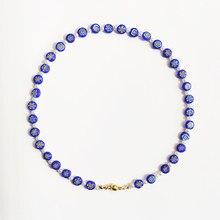Boêmio azul flor padrão grânulo colar branco imitação pérola mix e jogo design gargantilha jóias presente para mulher atacado