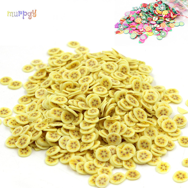200Pcs Addition Slime Fruit Fimo Bead Charms Slime For Charms Beads DIY Nail Mobile Beauty Powder In Slime Supplies Sprinkles