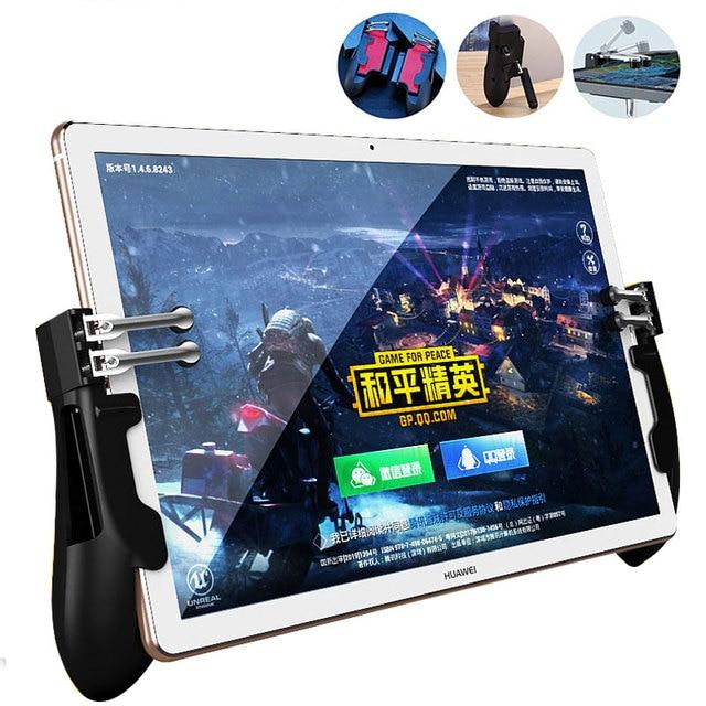 Controller PUBG ipad a sei dita Pubg Mobile Trigger Gamepad Grip L1R1 pulsante di mira a fuoco Joystick per Tablet ipad maniglia di gioco FPS