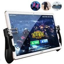 PUBG iPad Controller หกนิ้ว Pubg Mobile Trigger Grip Gamepad L1R1 Fire AIM ปุ่มจอยสติ๊กสำหรับ iPad แท็บเล็ตเกม FPS จับ
