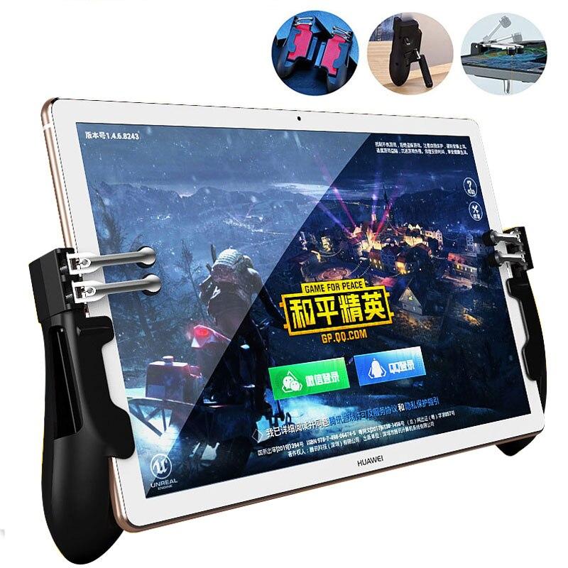 PUBG ipad Controller Six Finger Pubg Mobile Trigger Gamepad Grip L1R1 Fire Aim Button Joystick For Ipad Tablet FPS Game Handle(China)