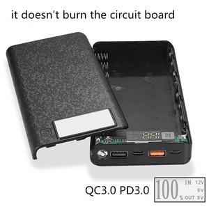 Image 2 - Schnell Ladung Power Bank 18650 Fall QC 3,0 PD 3,0 Batterie Halter Schnelle Ladegerät Box Shell DIY HENGCHANG Dropshipping