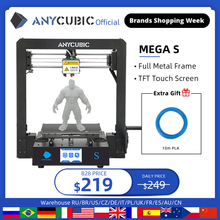 ANYCUBIC Mega S 3D Drucker Mega Upgrade imprimante 3d Plus Größe Volle Metall TFT Touchscreen Hohe Präzision Desktop impressora 3d