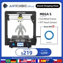 ANYCUBIC מגה S 3D מדפסת מגה שדרוג imprimante 3d בתוספת גודל מלא מתכת TFT מגע מסך דיוק גבוה שולחן עבודה impressora 3d