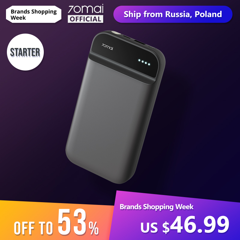 70mai Power-Bank Starter Spain Warehouse Online-Poland Car with for Bag New-Arrival