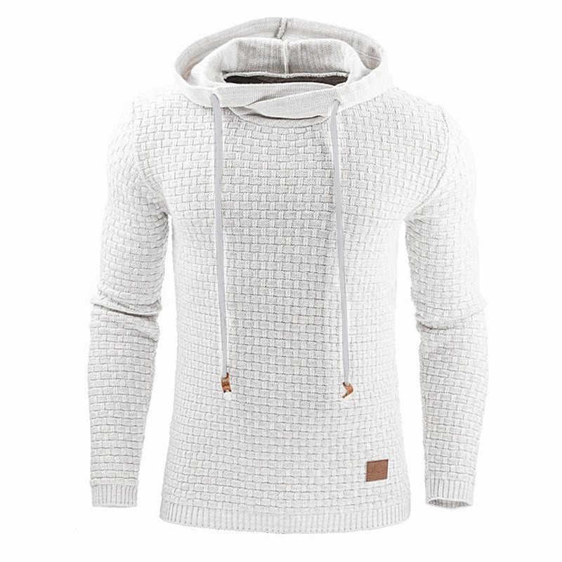 2019 Nuovo Autunno Maglione di Inverno Degli Uomini di Modo Con Cappuccio Mens Maglione Più Il Formato 5XL casual Pullover Cappotto Degli Uomini Solido Sudore Camicette