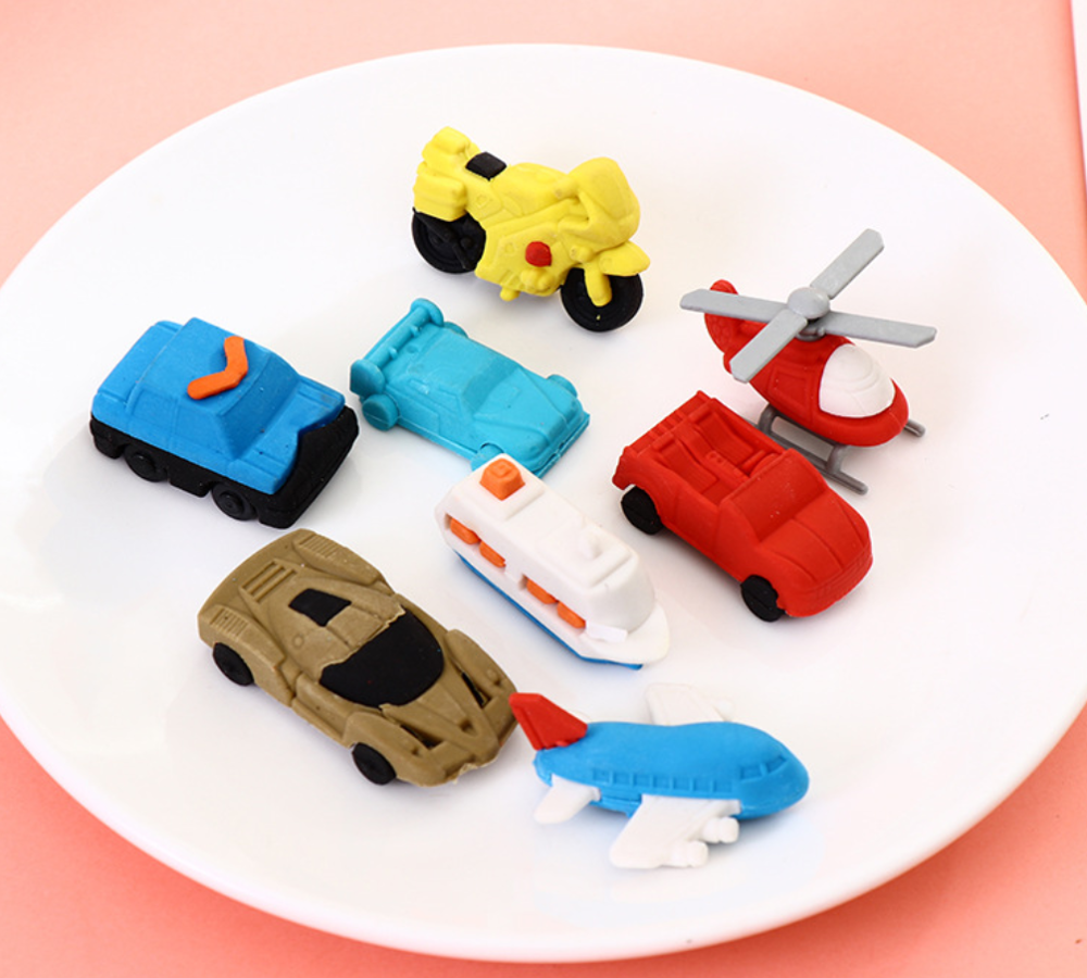 Vechile Motorcycles Sport Car Jeep Ship Pencil Eraser Stationary School Supplies Kawaii Office Cartoon Kids Gift Students Prizes