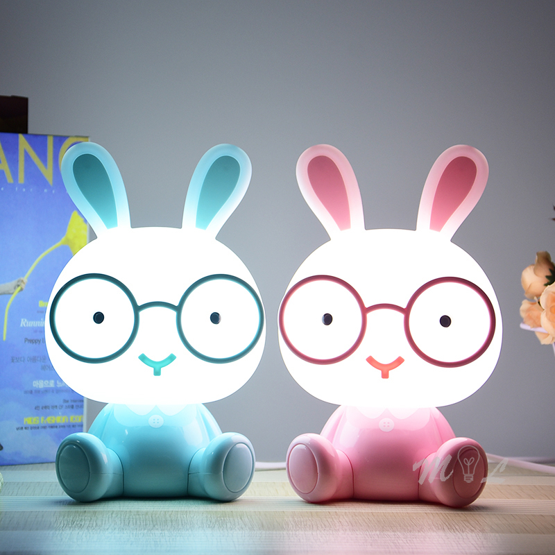 Cute Cartoon Animal Led Night Light For Baby Children's Room Night Lamp Christmas Gift Beside Deco Rabbit Lamp USB Night Lights