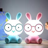 Cute Cartoon Animal Led Night Light for Baby Children's Room Night Lamp Christmas Gift Beside Deco Rabbit Lamp USB Night Lights