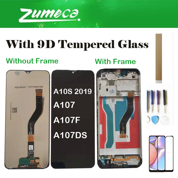 With 9D Tempered Glass With/Without Frame For Samsung Galaxy A10S 2019 A107 A107F A107DS LCD Display Screen Touch Screen image