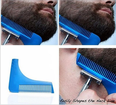 2019 Beard Template Shaping Tool Double Sided Beard Comb Shaving & Hair Removal Razor Tool For Men Barber Shaving Comb