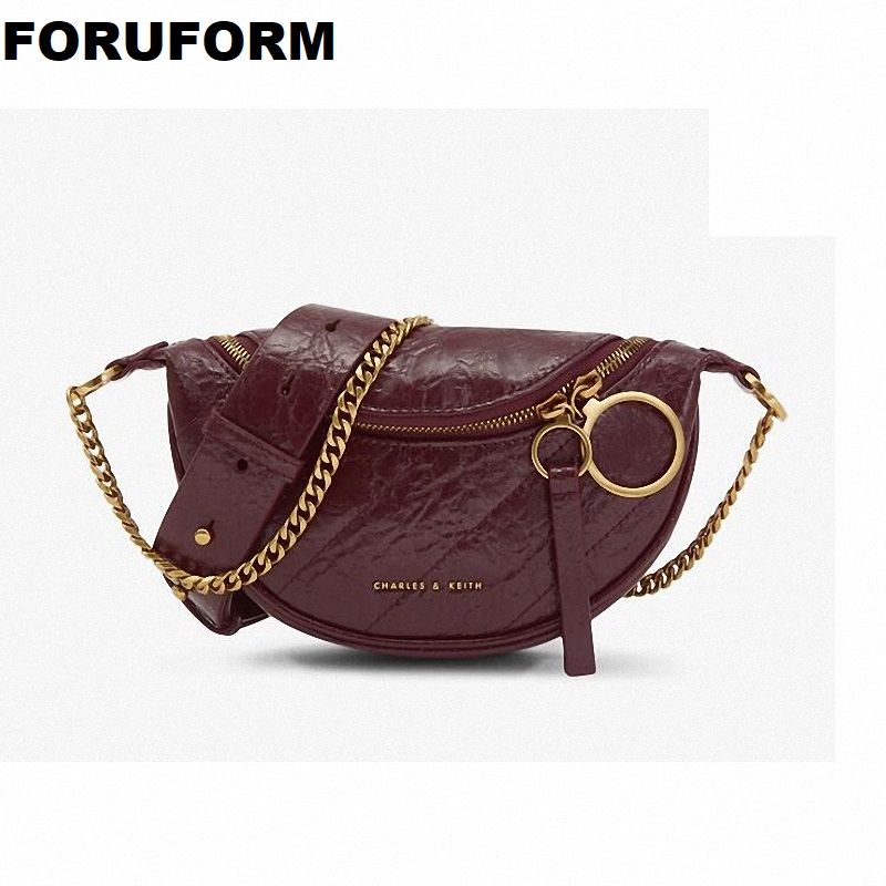Women's Bag Authentic Waist Bag Brand Belt Bag Women Waist Pack PU Leather Chest Bag Dumpling Bag New Quality ZH-364