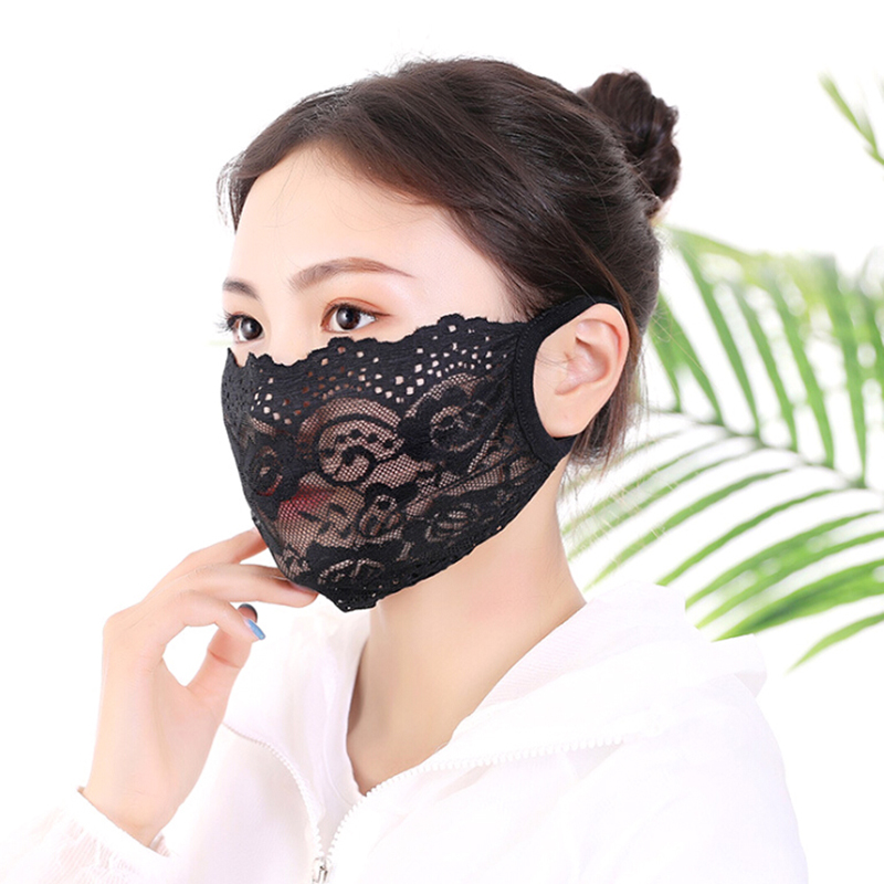 Cotton Lace Masks Face Mouth Nose Safety Respirator Cycling PM2.5 Anti-Dust Mask
