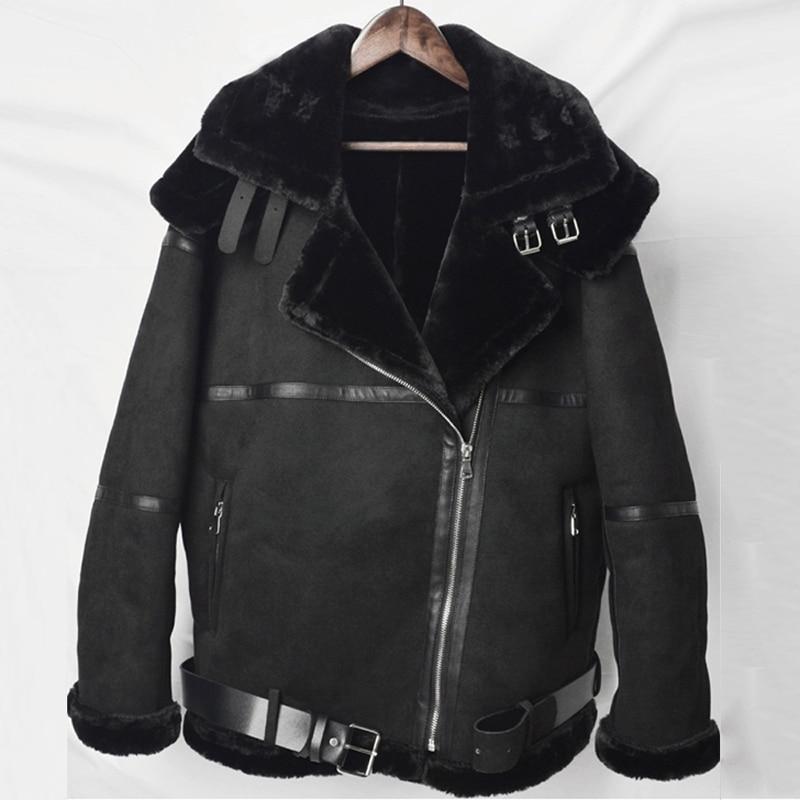 Women Fur Leather Coats Hooded Casual Loose Warm Winter Fur Coat Brand Faux Fur Leather Jacket Coat Woman Streetwear 2020 A899