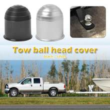 50mm Auto Tow Bar Ball Cover para camión semirremolque coche barco enganche caravana remolque Protect negro PVC Universal Car Accessories(China)