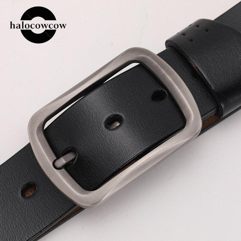 High Quality Men Belts Genuine Leather Luxury Strap Male Belts For Men Jeans Casual Belt Pin Buckle Masculine Cummerbund 2020