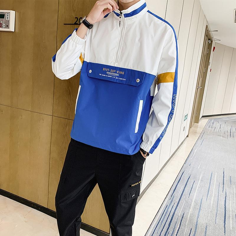 2020 Spring New Style Men Leisure Sports Suit Teenager Korean-style Fashion Hooded Jacket Pullover Coat Fashion